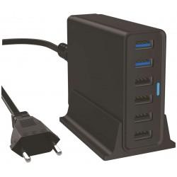 6-Porttinen USB-laturi