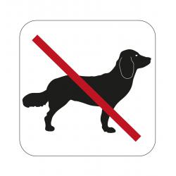 Ei koiria - Kyltti 80x80